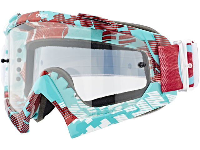 ONeal B-10 Goggle PIXEL red/teal-clear